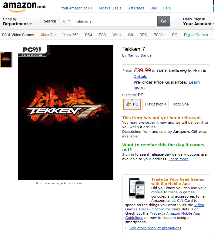 tekken 7 amazon