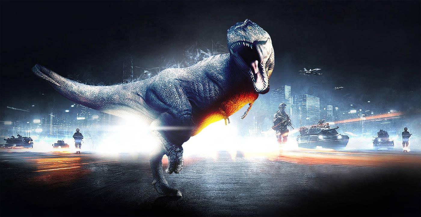 Battlefield-dinozaury
