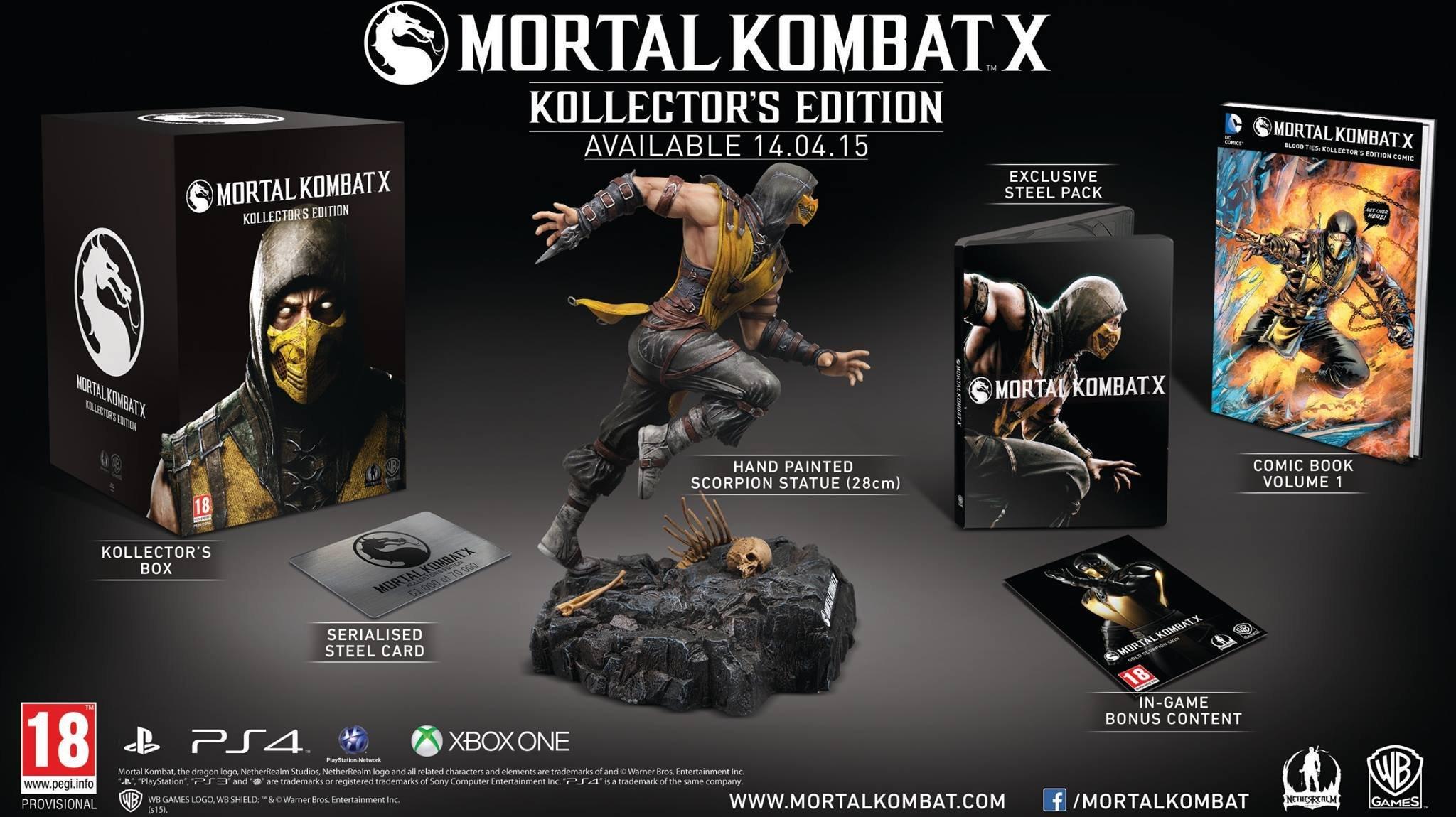 Mortal Kombat X edycja kolekcjonerska