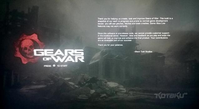 Gears of War - wersja testowa już ogrywana.