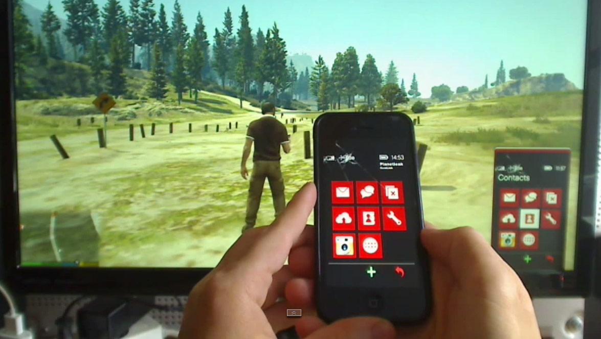 GTA V - sterowanie prawdziwym telefonem