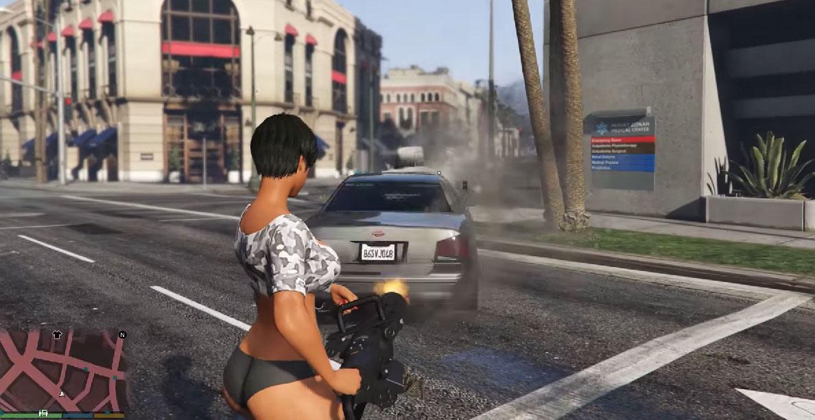 Mody do GTA V - co powiecie na strzelanie samochodami?
