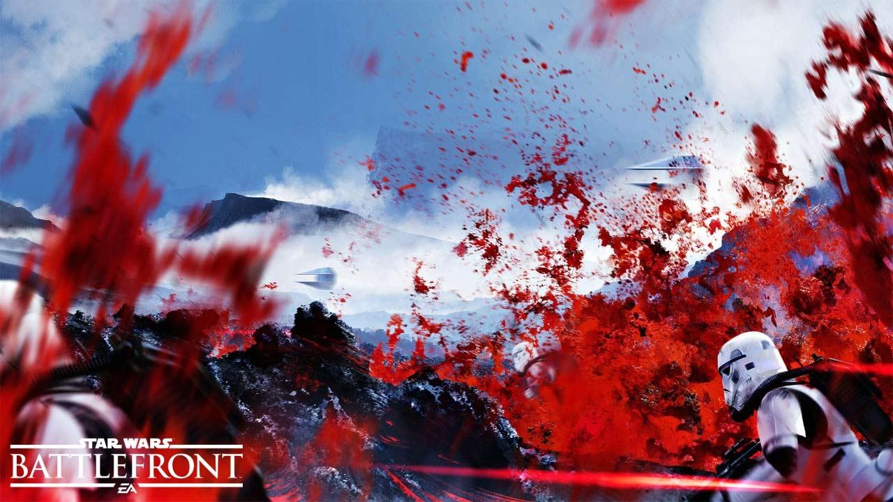 Star Wars: Battlefront - grafika koncepcyjna planety Sullust.