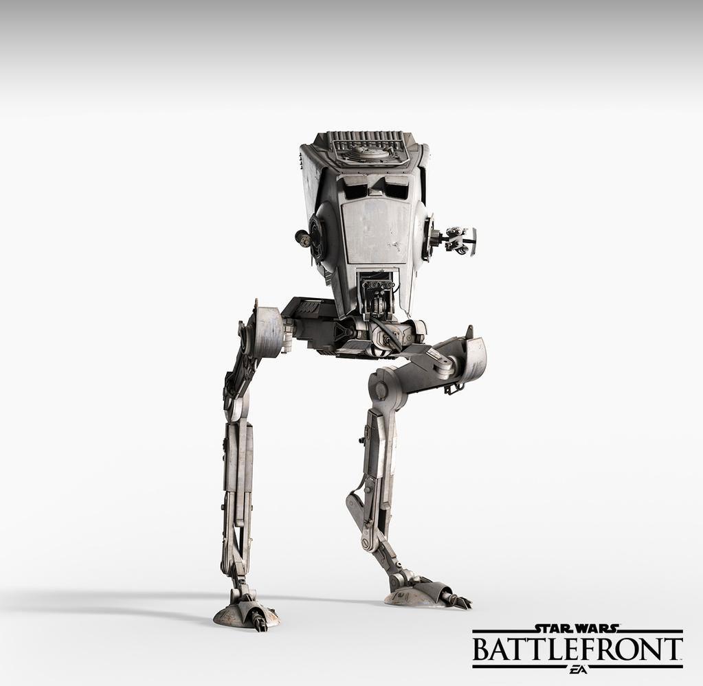 Star Wars: Battlefront - maszyna krocząca AT-ST.