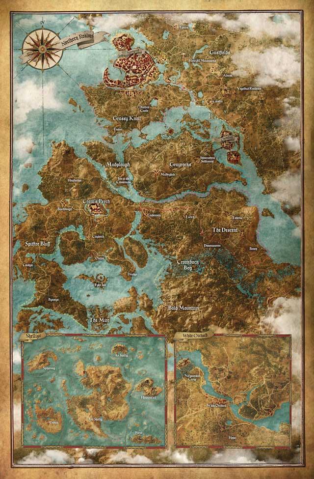 Mapa świata Wiedźmina 3