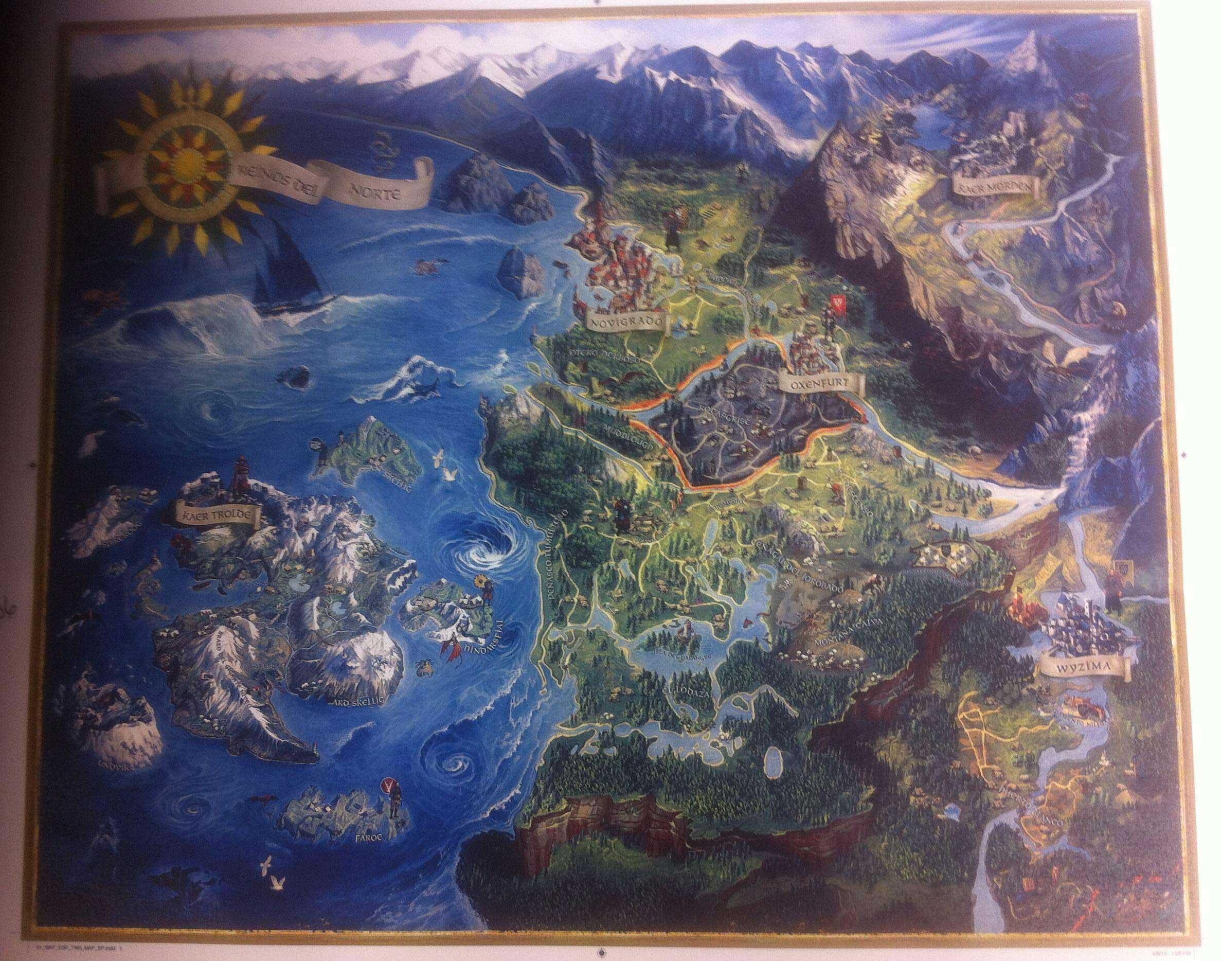 Mapa z pudełeczka Wiedźmina 3