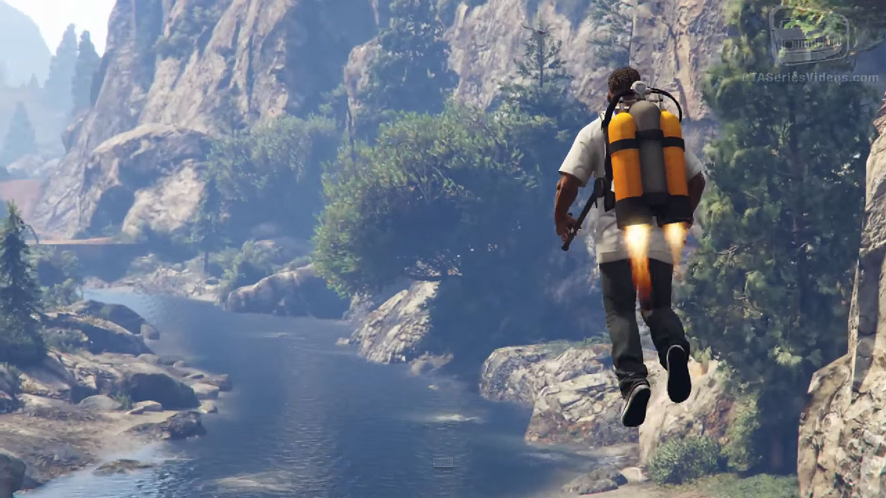 Mody do GTA V - jetpack