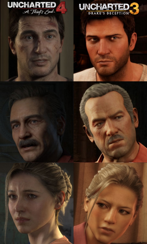 Uncharted 4 vs Uncharted 3