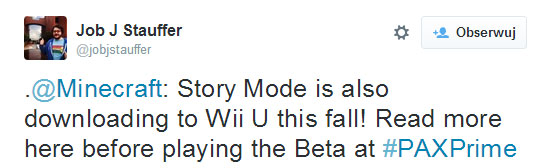 Minecraft: Story Mode na Wii U