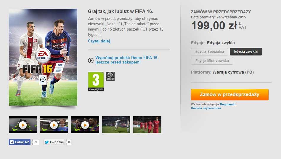 Demo FIFA 16 na PC