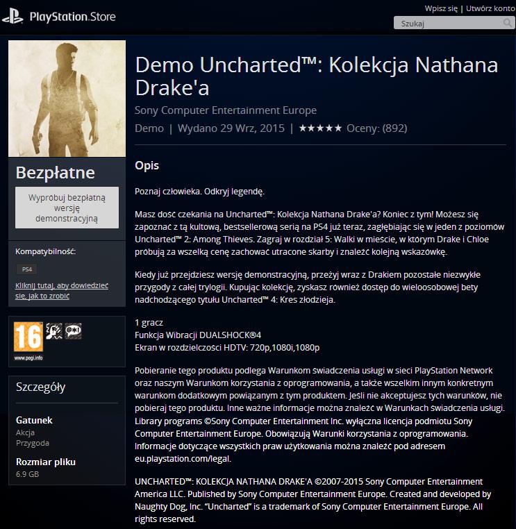 Demo Uncharted: Kolekcja Nathana Drake'a