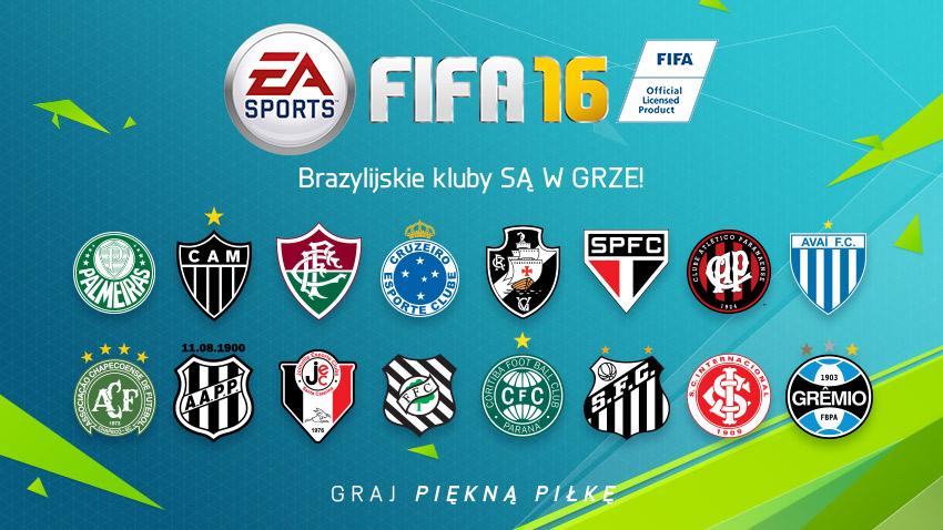 FIFA 16 i brazylijskie kluby