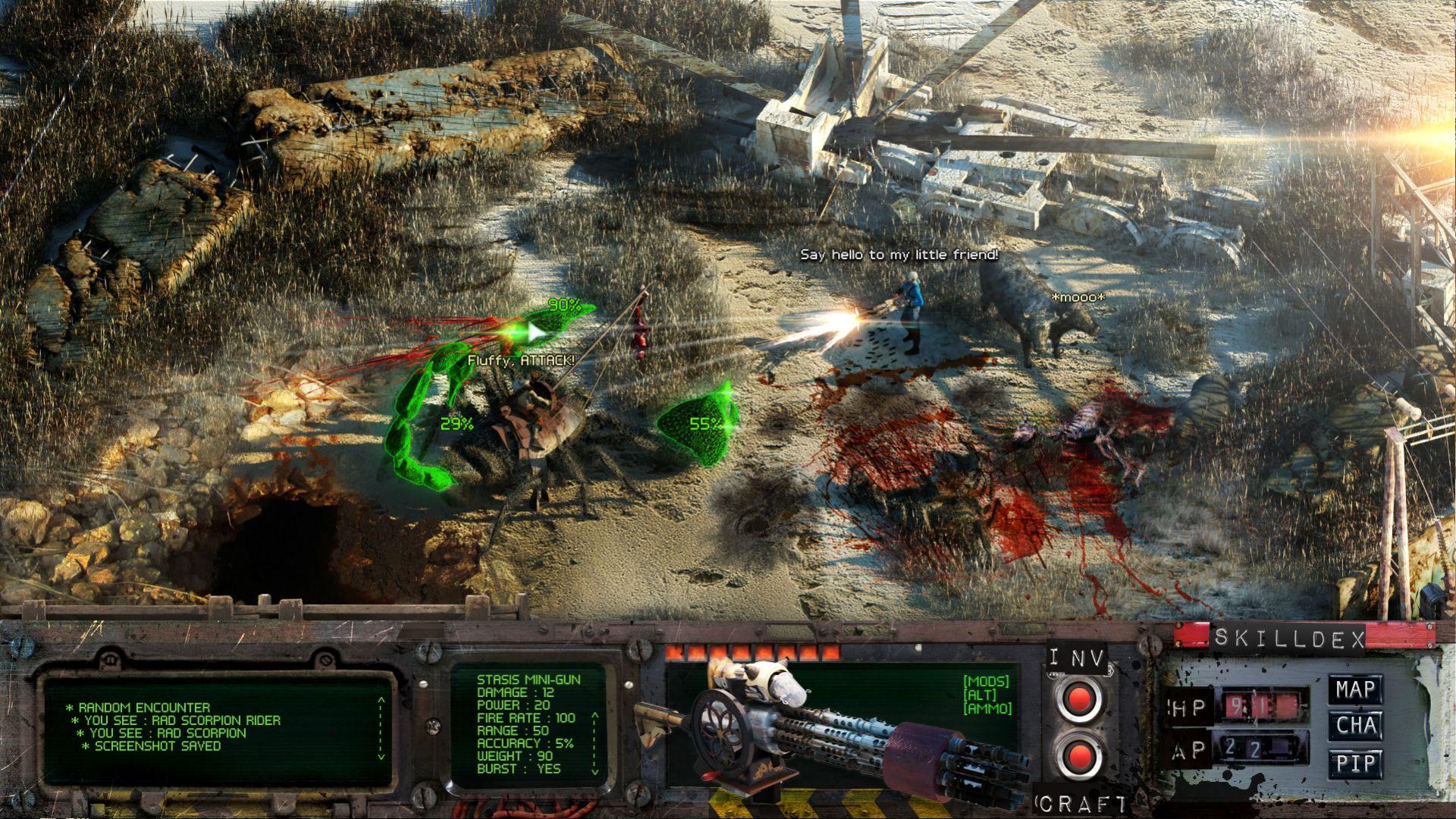 Fallout 4 izometrycznie