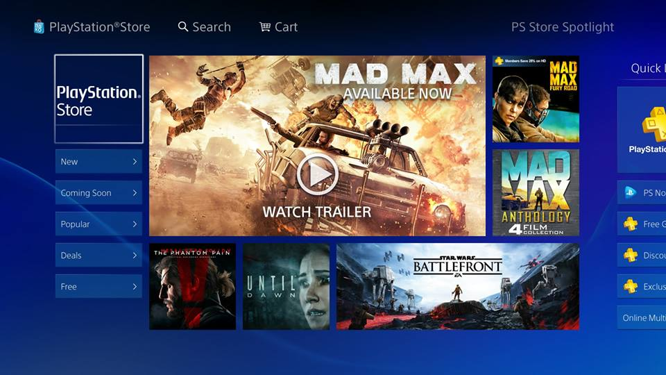 New PS Store
