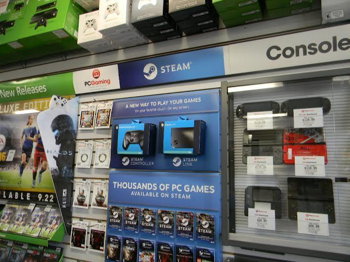 Dział Steam w sklepie stacjonarnym