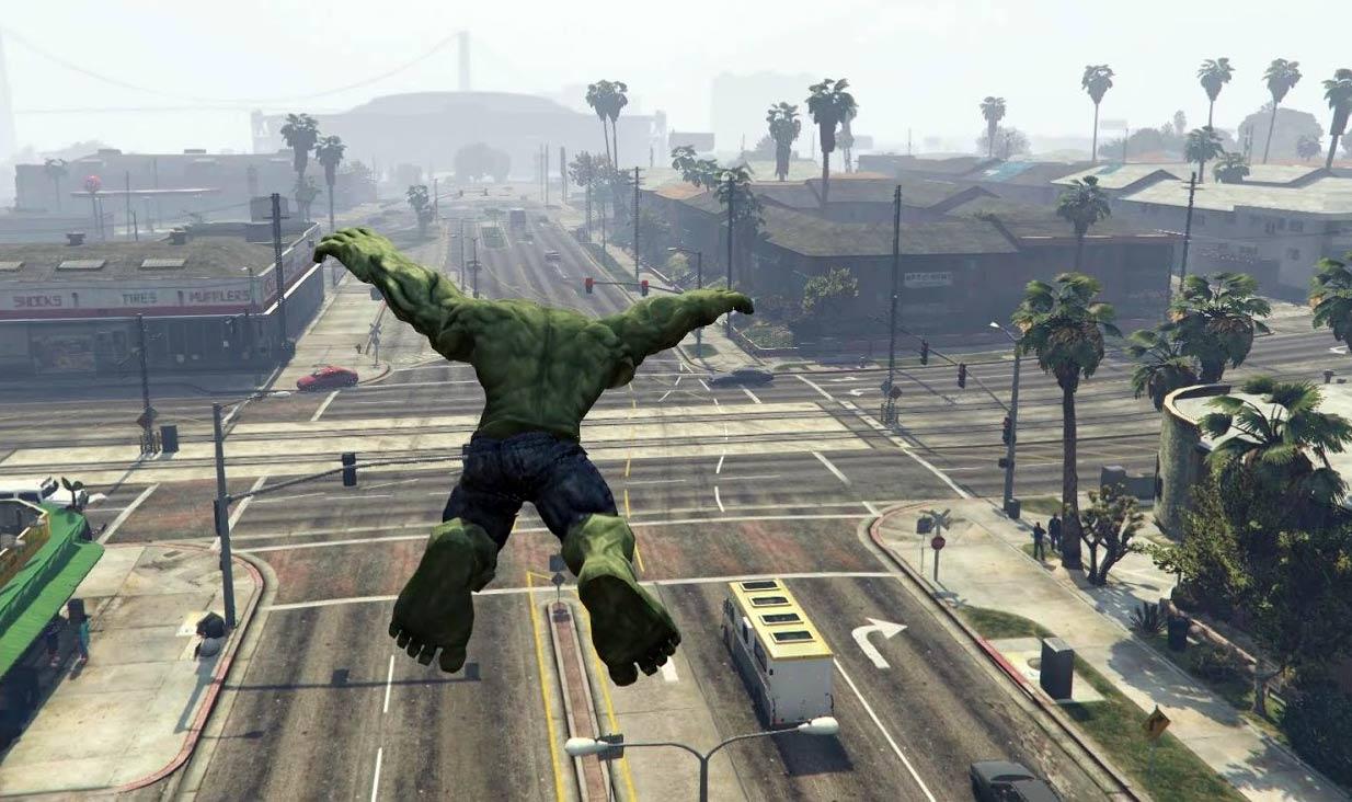 GTA V - Hulk w akcji