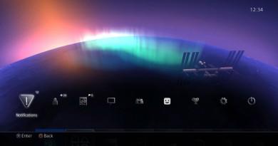 Aurora Borealis theme PS4