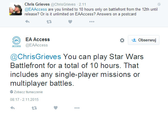 Star Wars Battlefront w EA Access