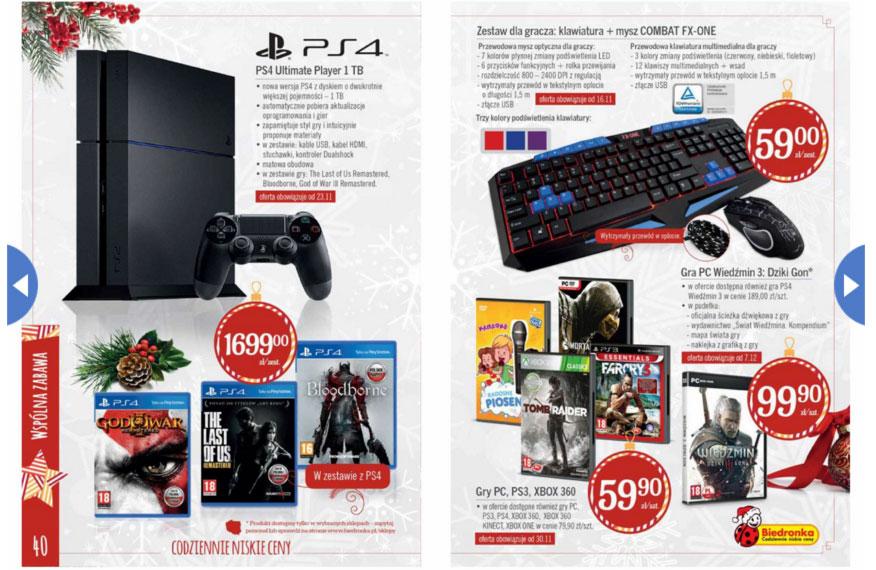 Biedronka - zestaw PS4