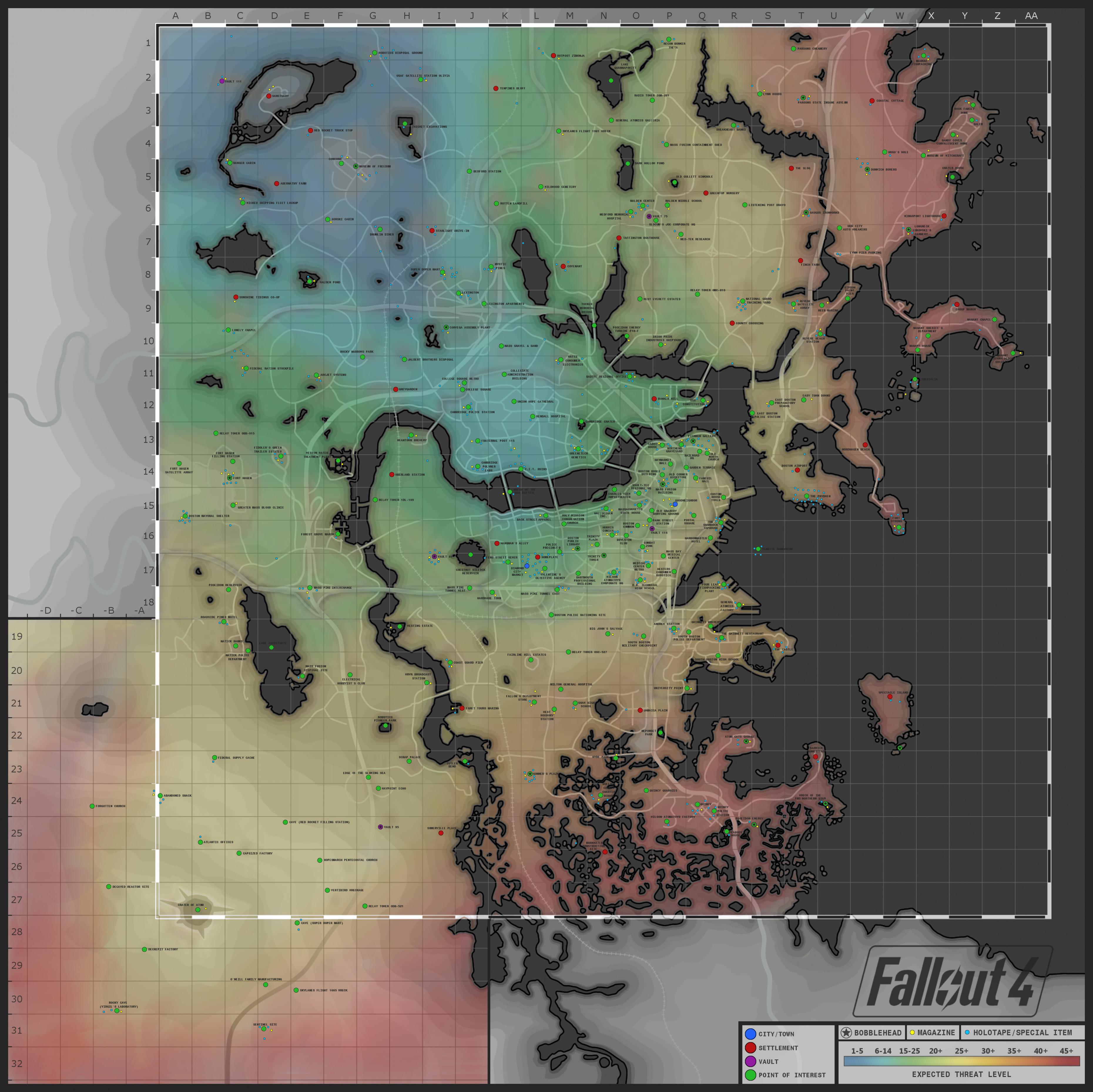 Mapa Fallout 4