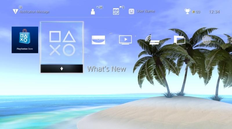 motyw PlayStation 4