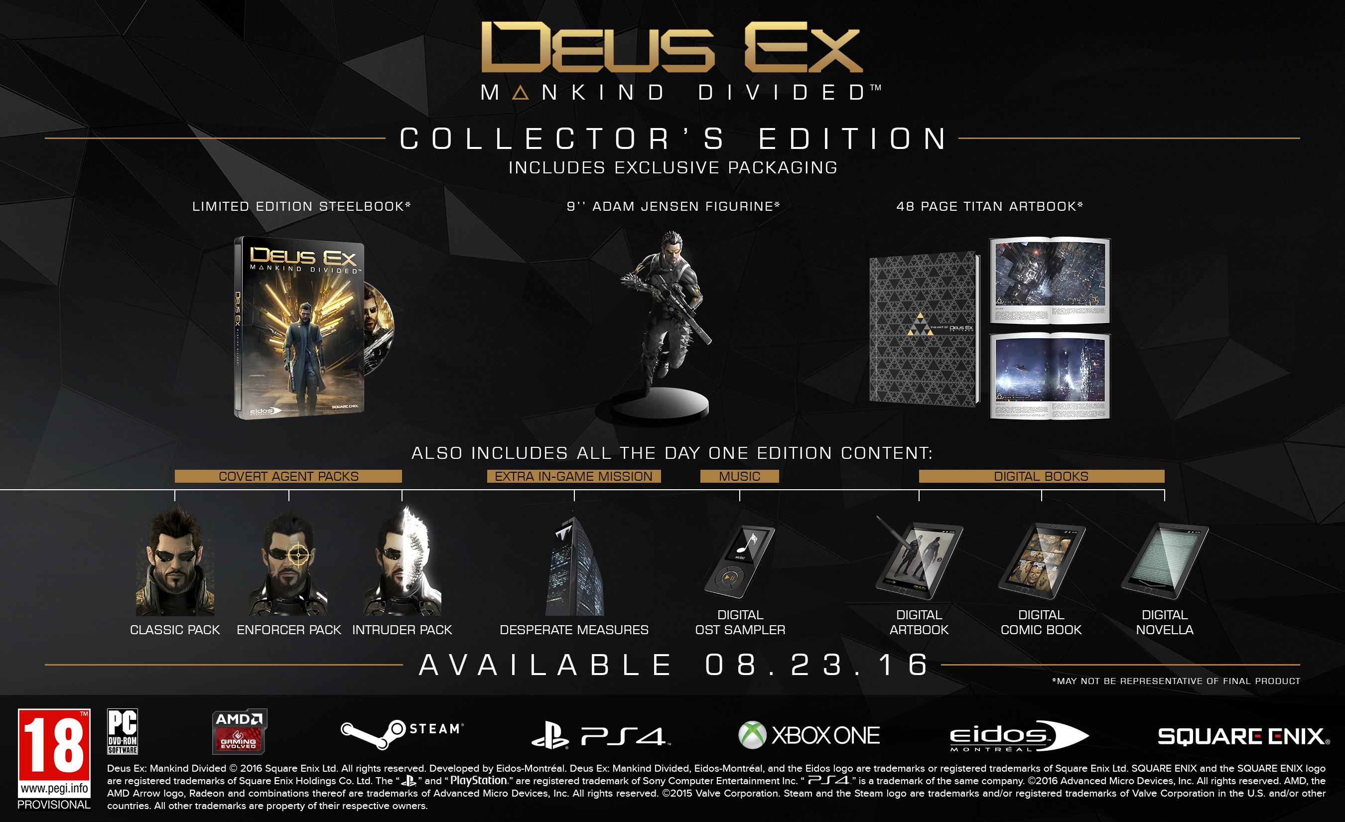Deus Ex Rozłam Ludzkości Edycja Kolekcjonerska