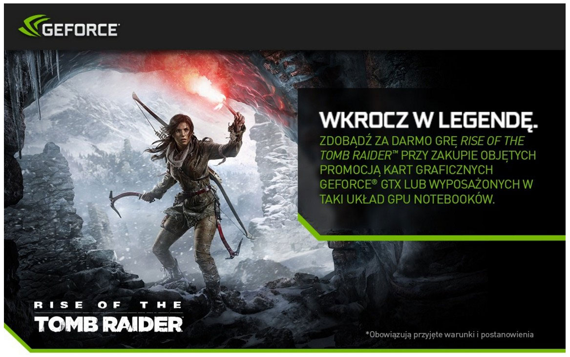 Rise of the Tomb Raider w zestawie z kartami Nvidia