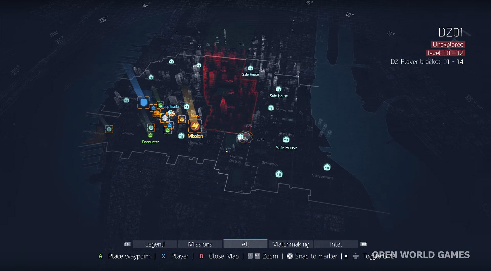Mapa The Division