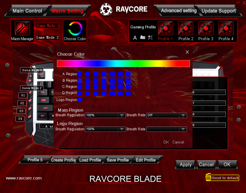 Ravcore Blade oprogramowanie