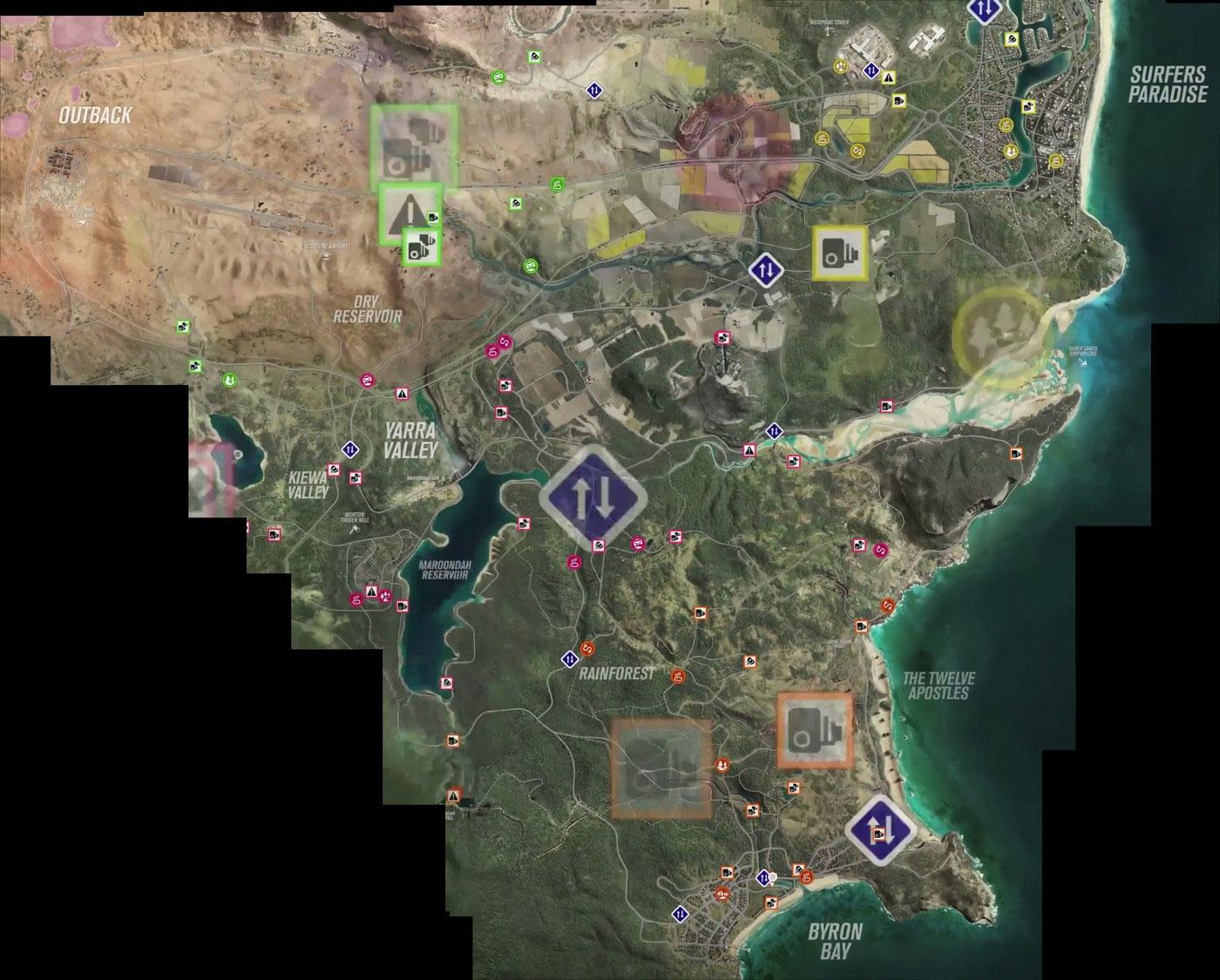 Mapa w Forza Horizon 3