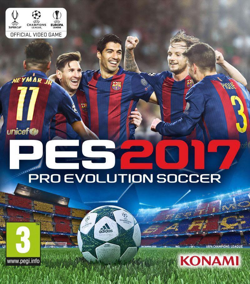 PES 2017 - na okładce Messi, Suarez, Neymar, Pique oraz Rakatic.