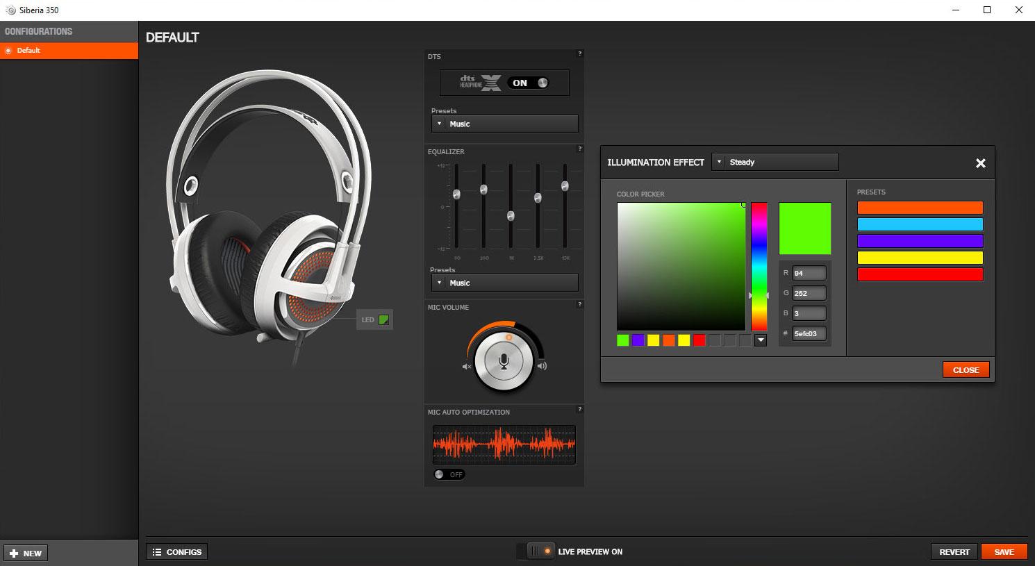 SteelSeries Engine 3 pozwala spersonalizować słuchawki.