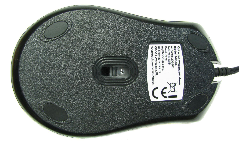 Ślizgacze to jeden z największych minusów testowanej myszki z Biedronki.