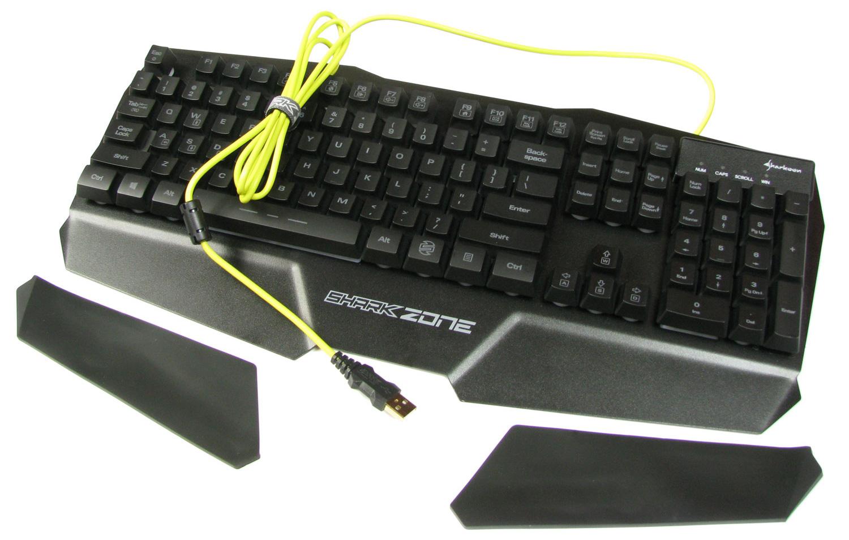 Sharkoon Shark Zone K20 - gumowe nakładki dla większego komfortu pracy i grania.