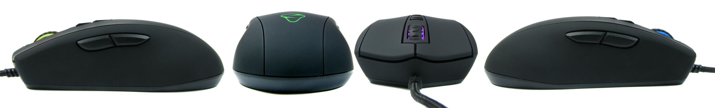 Mionix Avior 7000 z czterech stron świata.