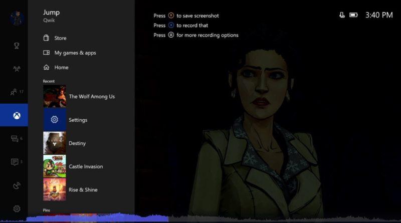 Xbox One nowy dashboard