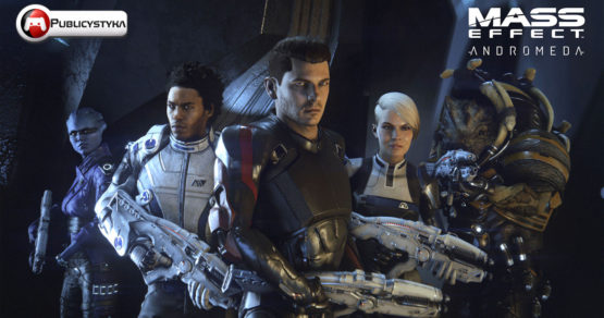 Bohater Mass Effect Andromeda i jego kosmiczny team