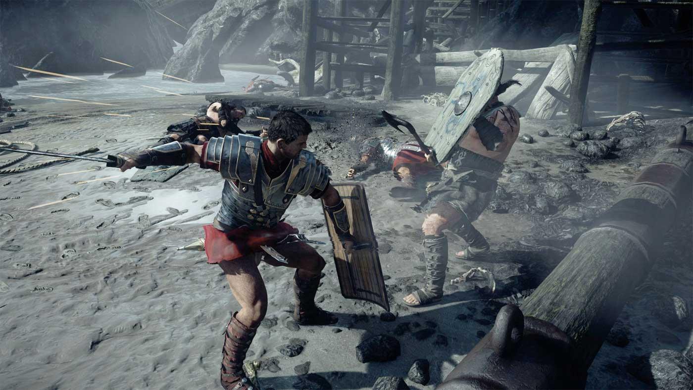 Rysy: Son of Rome - walka głównego bohatera z przeciwnikiem