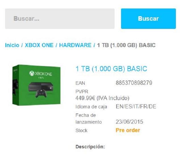 Xbox One z dyskiem 1TB rzeczywiście trafi do sklepów?