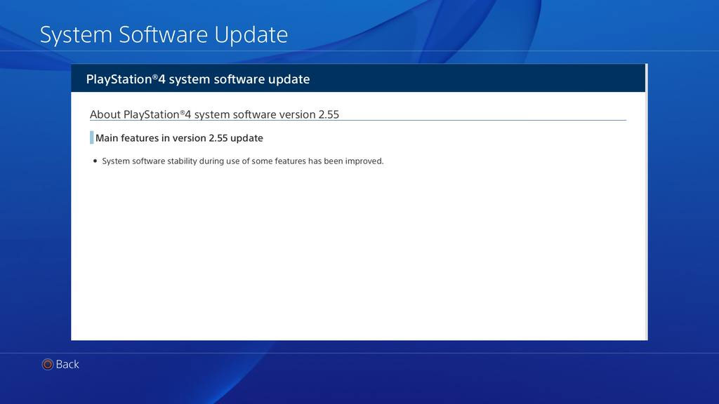 Aktualizacja 2.55 PS4