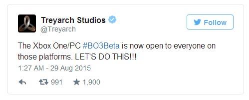 Beta Call of Duty: Black Ops III