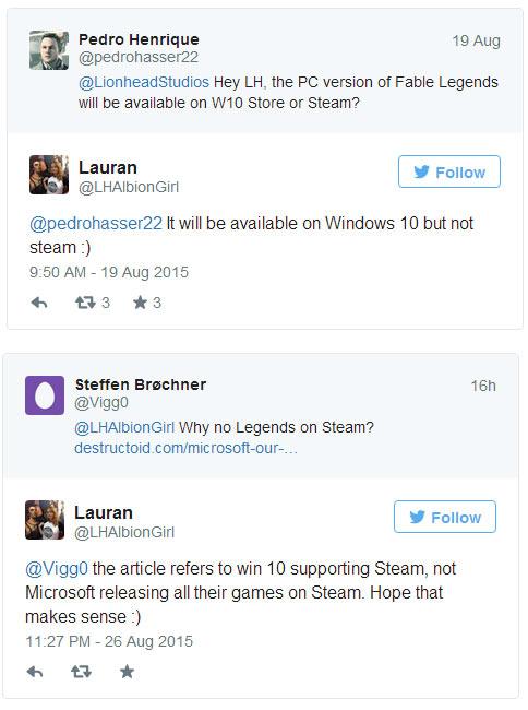 Fable Legends omija Steam