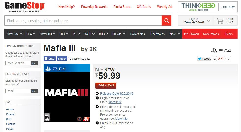 Mafia III - to prawdziwa data premiery?
