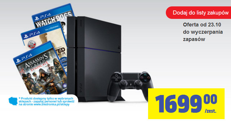 PlayStation 4 w Biedronce
