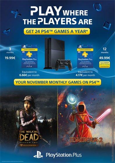PlayStation Plus w listopadzie