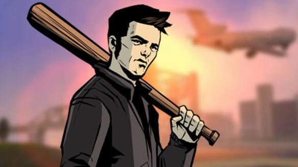 GTA Trilogy Remake - GTA III - grafika z głównym bohaterem gry trzymającym baseballa