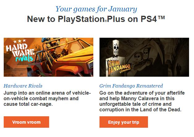 PlayStation Plus styczeń