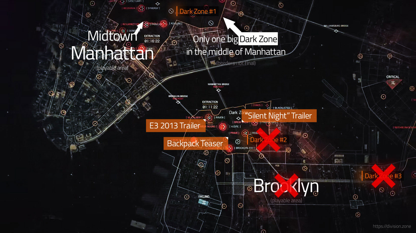 Mapa The Division