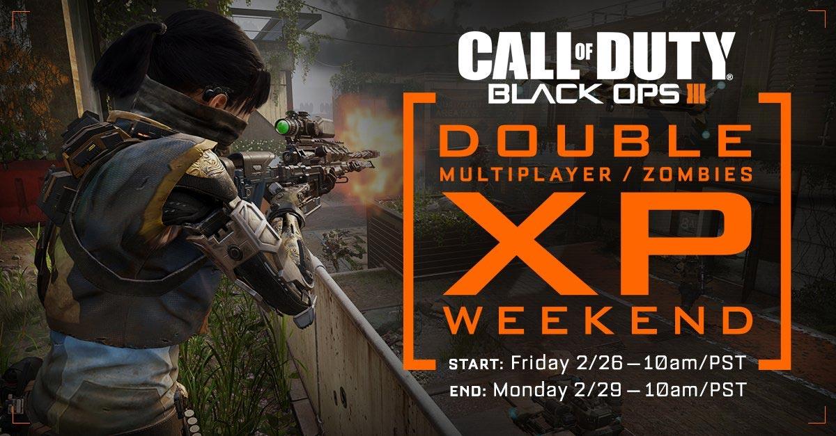 CoD: Black Ops III - double XP