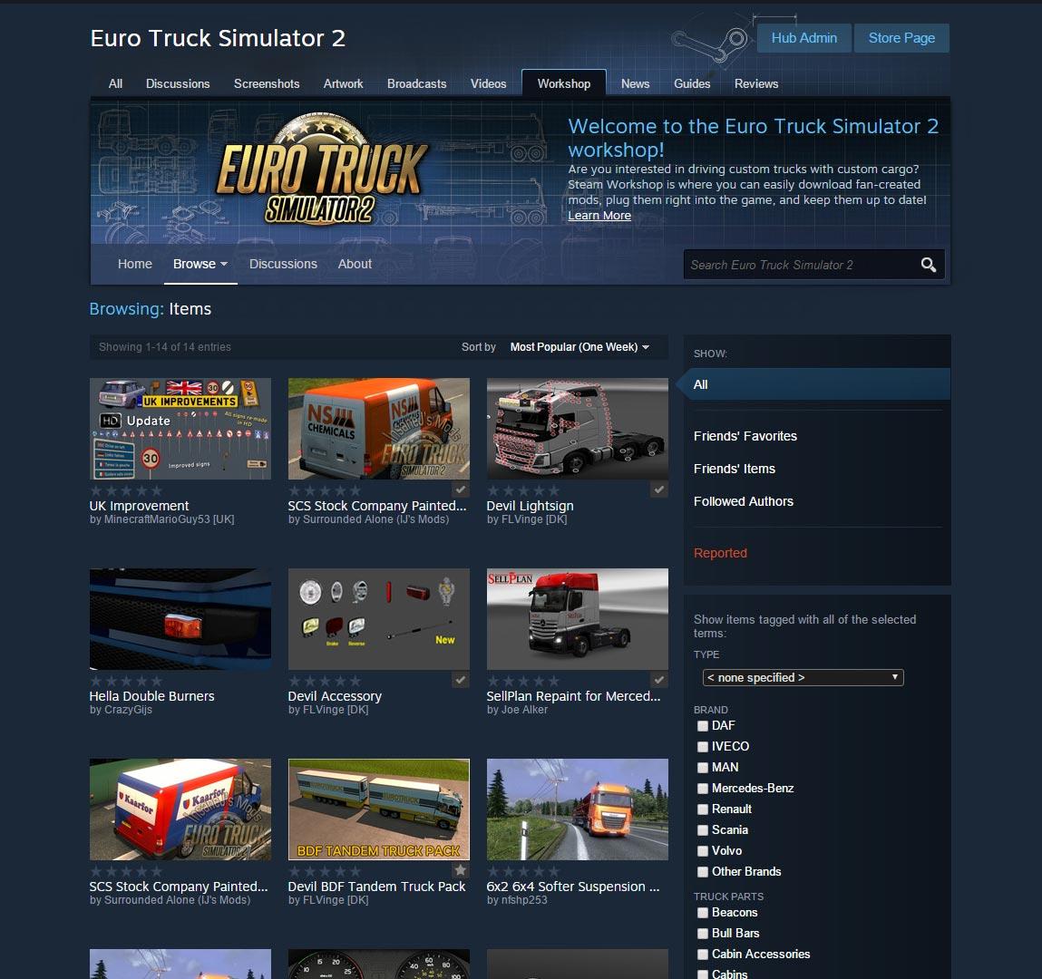 Gry z serii Truck Simulator czekają na wsparcie dla modów. Trwają testy